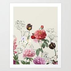 Flowers illustraion Art Print
