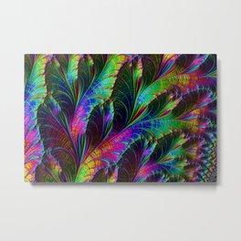 Rainbow Leaves Metal Print