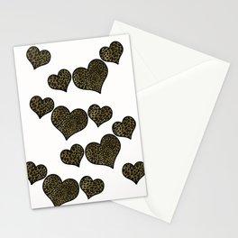 Leopard Print Art Stationery Cards