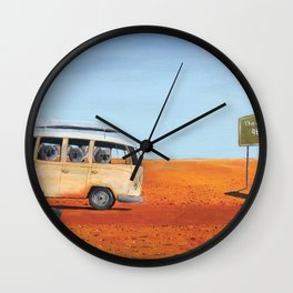 Going to the Beach Wall Clock