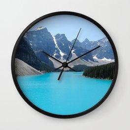Moraine Lake, Banff Canada Wall Clock