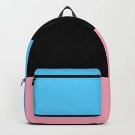 Black Trans Flag Backpack