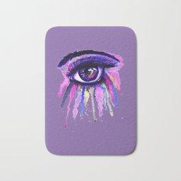 Rainbow anime eye Bath Mat