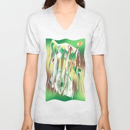 Windy Cold Day in Winter Unisex V-Neck