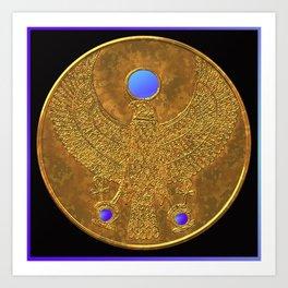 EGYPTIAN GOD HORUS Art Print