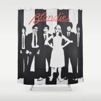 blondie Shower Curtains featuring Blondie Stencil by FutureAstro