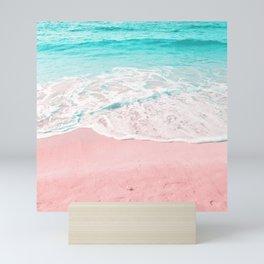 sand beach summer Mini Art Print