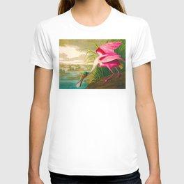 Roseate Spoonbill Bird pink T-shirt