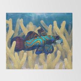 Mandarinfish Throw Blanket
