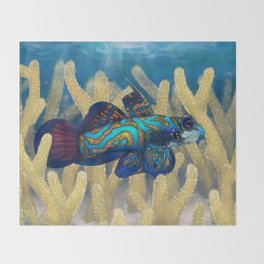 Mandarinfish Throw Blanket