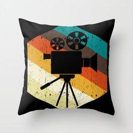 Vintage Retro Film Camera Gift Throw Pillow