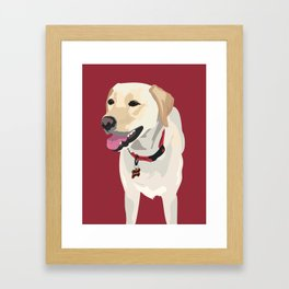 Ruby the Roomba Framed Art Print
