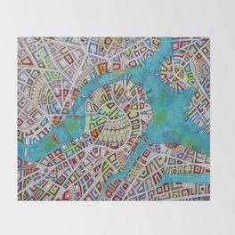 imaginary map of boston  Throw Blanket