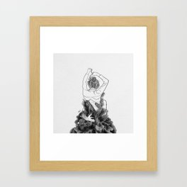 I want to know you little more deep. Framed Art Print