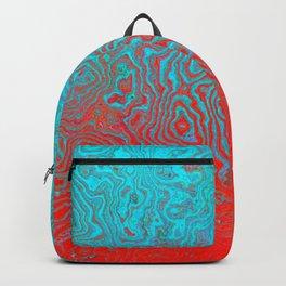 Aqua Red Backpack
