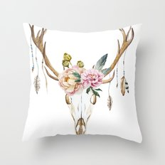 Animal Skull 09 Throw Pillow