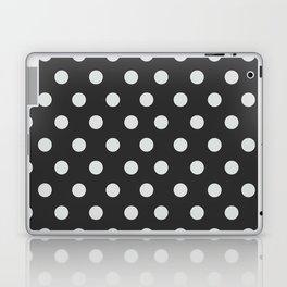 Dark Slate Grey Thalertupfen White Pōlka Large Round Dots Pattern Laptop & iPad Skin