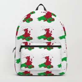 Flag of Wales 2 ,uk,great britain,dragon,cymru, welsh,celtic,cymry,cardiff,new port Backpack