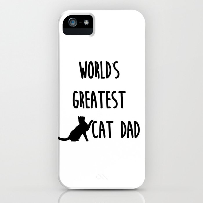 world's greatest cat dad iphone case