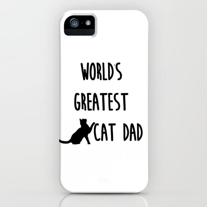 world's greatest cat dad iphone case