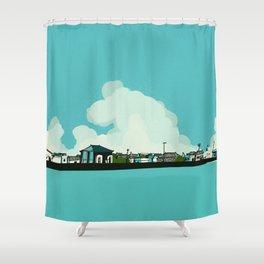 Walk along the sea Shower Curtain