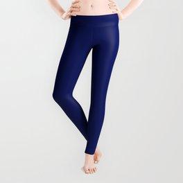 Dark Blue Solid Color Collection Leggings