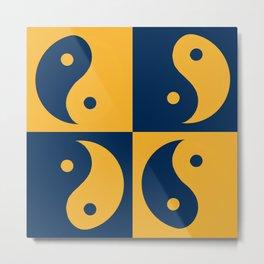 Ying and yang, day and night, balance and harmony Metal Print