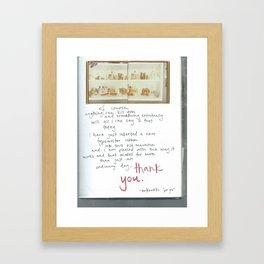 Thank You, Bukowski Framed Art Print
