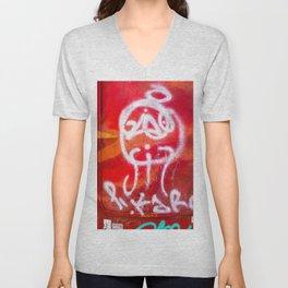 Rojo Píkaro Unisex V-Neck