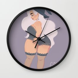 Witchy lingerie Wall Clock