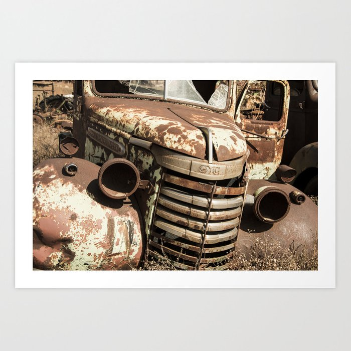 Rusted Pickup  Art Print