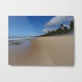 Praia Privada Metal Print