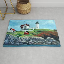 Nubble LightHouse Painting Rug