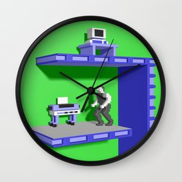 Inside Impossible Mission Wall Clock
