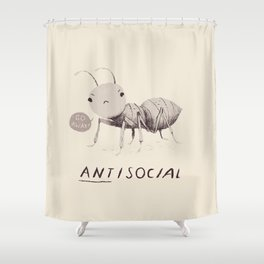 antisocial Shower Curtain