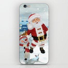 Funny Santa Claus iPhone Skin