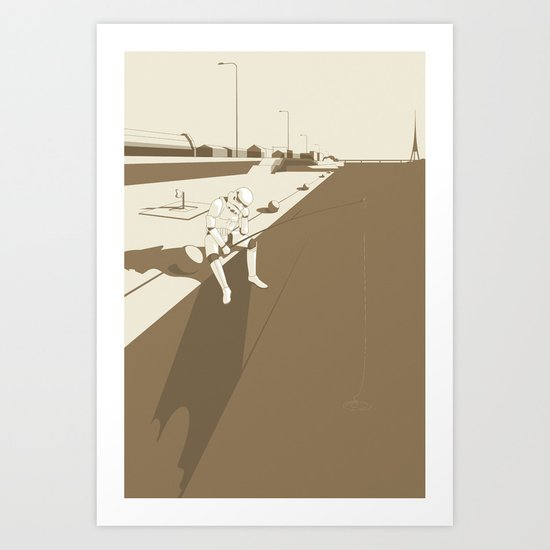The Father's Shadow Art Print