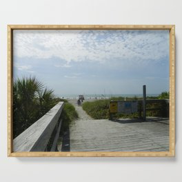 Path To The Beach Serving Tray