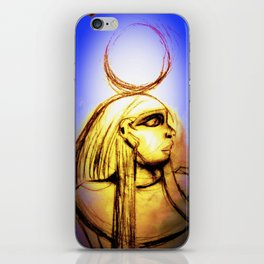 Hatshepsut Royal Blue iPhone Skin