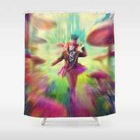 mad hatter Shower Curtains featuring Mad Hatter by dreamshade