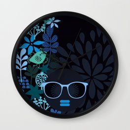 Afro Diva : Sophisticated Lady Teal Wall Clock