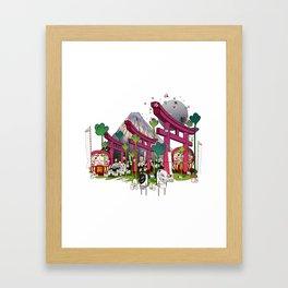 Fuji Scene Framed Art Print