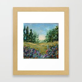 Journey 2, landscape impressionism painting Framed Art Print