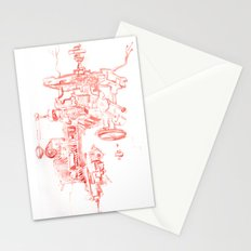 Abstract Lines, Linear Pyramid Space Stationery Cards