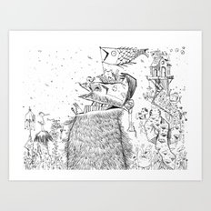 Doodle no. 2 - Happy all along my journey! Art Print