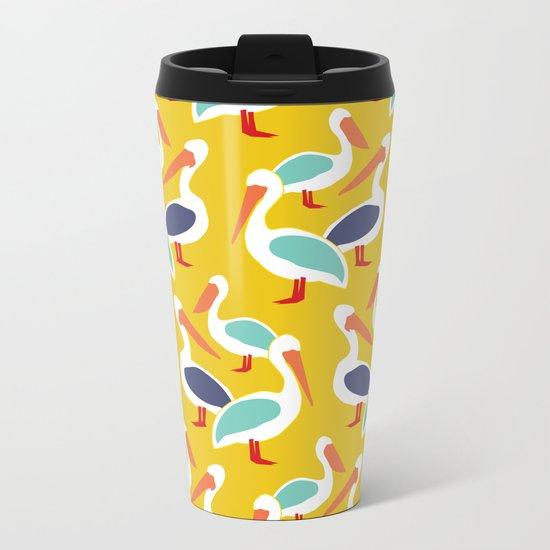 The Pelicans Metal Travel Mug