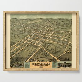 Map Of Huntsville 1871 Serving Tray
