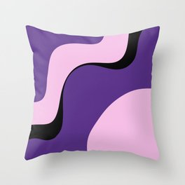 violet ice Throw Pillow