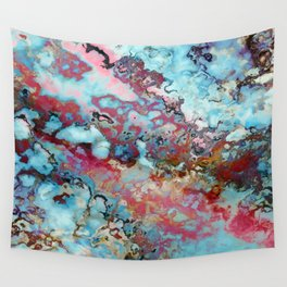 Colorful abstract marble II Wall Tapestry