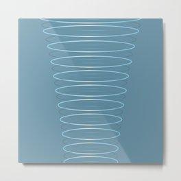 Hoops in Blue Metal Print